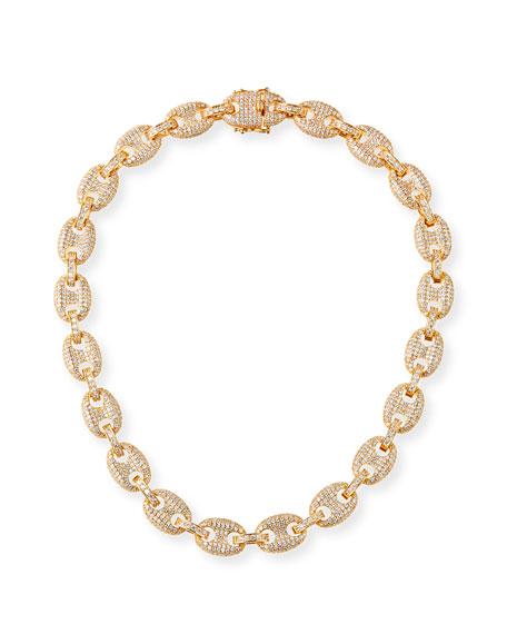 Fallon Toscano Pave-Link Necklace