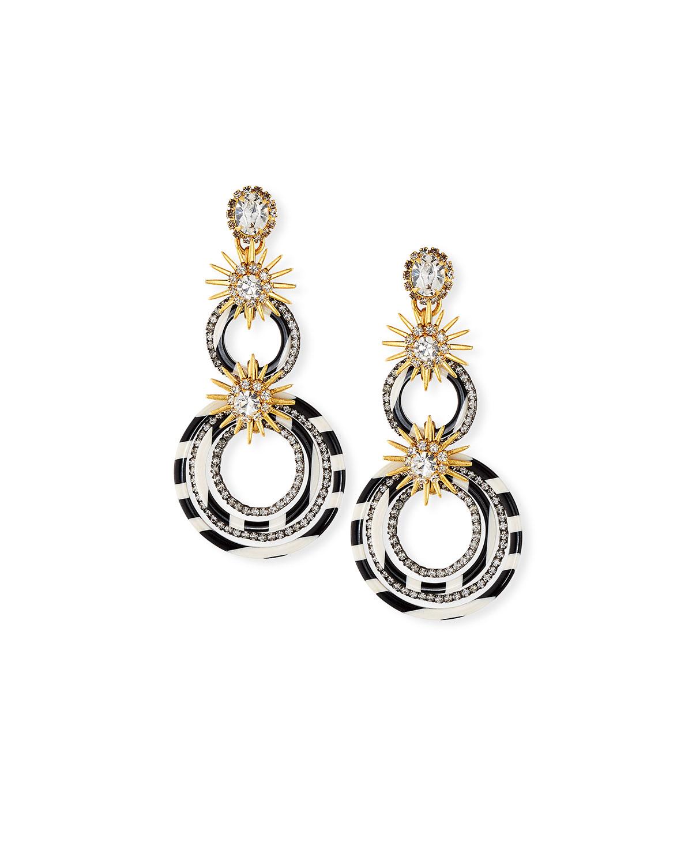 86b5ce477 Elizabeth Cole Sarah Double Circle-Drop Earrings w/ Crystals ...