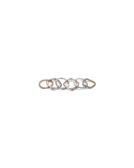 Alexis Bittar Bamboo Stack Rings, Set of 6, Size 6