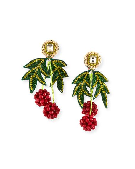 Ranjana Khan Raspberry Clip-On Earrings