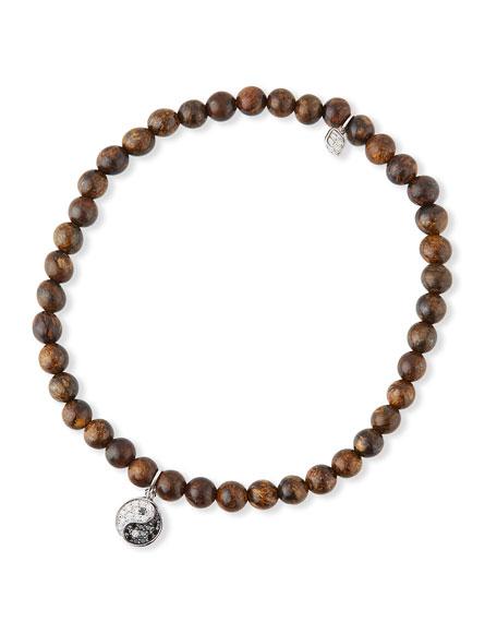 Sydney Evan 14k Diamond Yin-Yang & Bronzite Bracelet