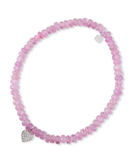 Sydney Evan 14k Diamond Heart & Sapphire Bracelet