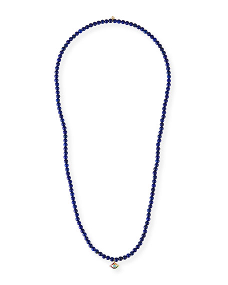 Sydney Evan 14k Large Evil Eye & Lapis Necklace