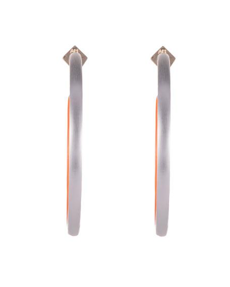 Alexis Bittar Large Skinny Hoop Earrings, Silver