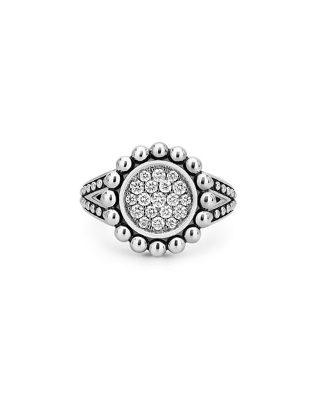 Image 2 of 4: Lagos Caviar Spark 16mm Diamond Ring, Size 7