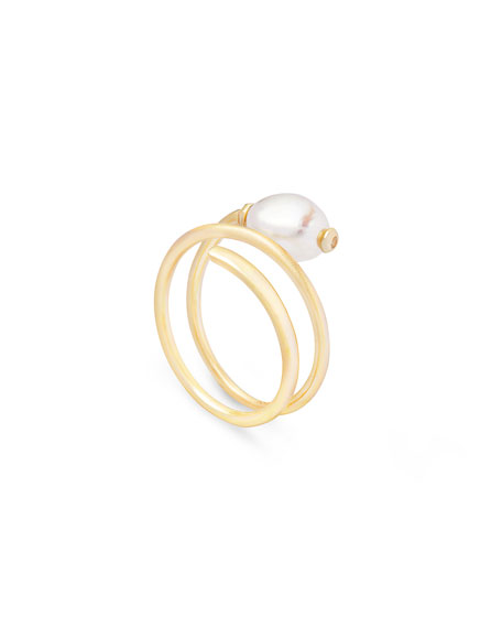 Kendra Scott Jayla Coiled Pearl Ring