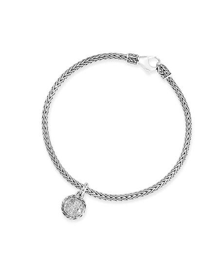 John Hardy Classic Chain Diamond Charm Bracelet, Size S-L