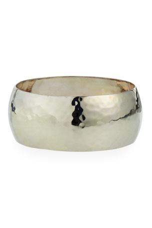 NEST Jewelry Large Hammered Bangle Bracelet