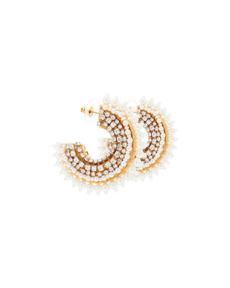 Mignonne Gavigan Mini Fiona Pearly Hoop Earrings