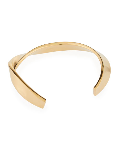Saint Laurent Collar Necklace, Gold