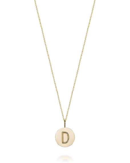 Sarah Chloe Kari Personalized 14k Gold Initial Necklace