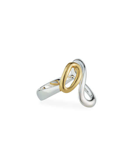 Ippolita Cherish Two-Tone Bypass Ring, Size 7