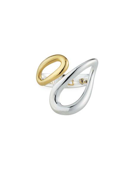 Ippolita Cherish Two-Tone Bypass Ring, Size 7