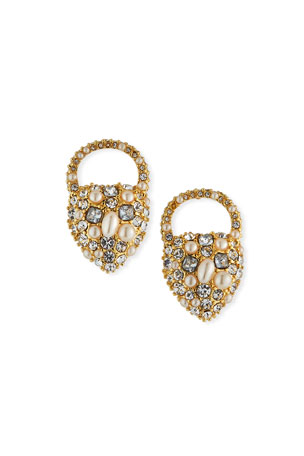 Lulu Frost Nina Crystal & Pearly Stud Earrings