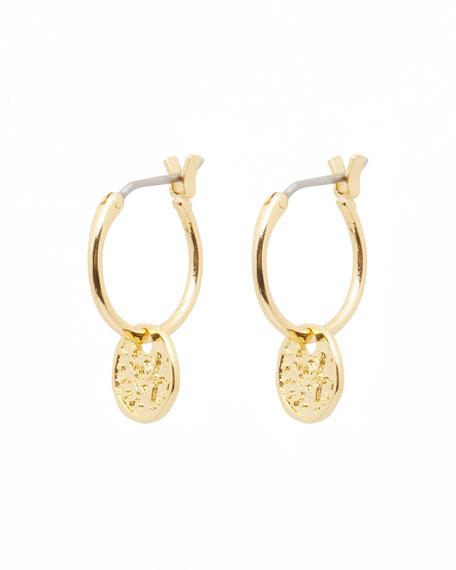 gorjana Ana Coin Huggie Earrings