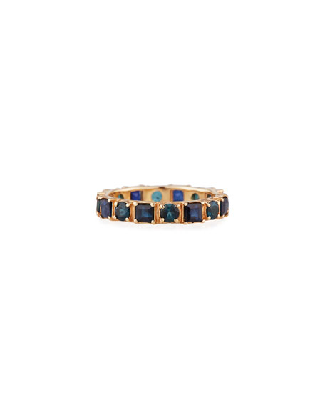 Image 1 of 2: Armenta 18k Rose Gold Blue Sapphire & Tourmaline Ring, Size 6.5