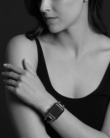 LAGOS Smart Caviar Black 38mm Watch Bracelet, Medium