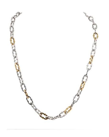 Konstantino Kleos Silver Figure 8-Link Necklace w/ 18k Gold
