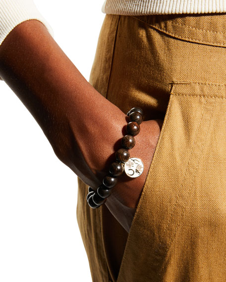 Sydney Evan 14k Diamond Luck Tableau & Ebony Bracelet