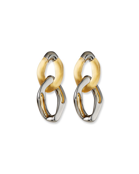 Alexis Bittar Two-Tone Double-Link Earrings
