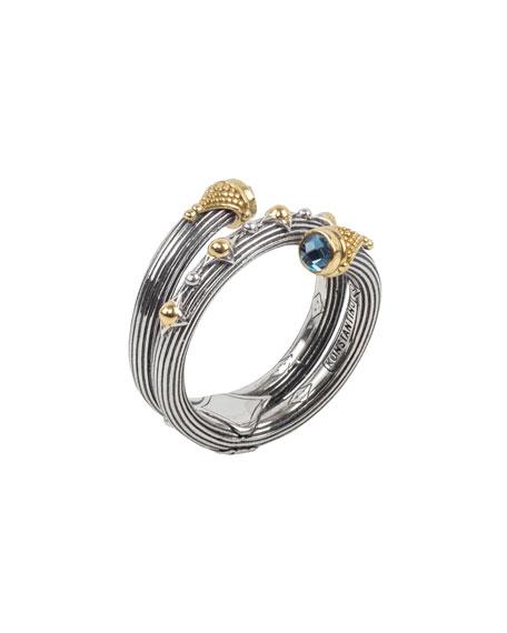 Konstantino Delos London Blue Topaz Wrap Ring, Size 7