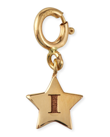 Zoe Chicco Personalized 14k Tiny Initial Star Pendant