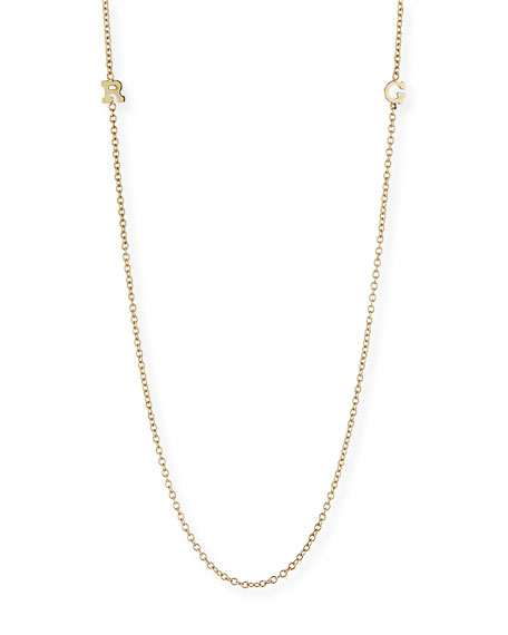 Zoe Chicco 14k Personalized 2-Initial Necklace