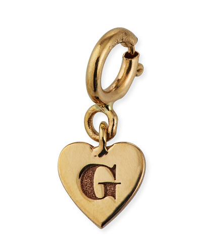 Personalized 14k Tiny Initial Heart Pendant