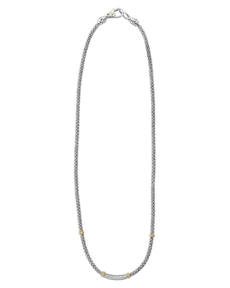 Image 2 of 4: Lagos Diamond Lux Diamond-Station Necklace