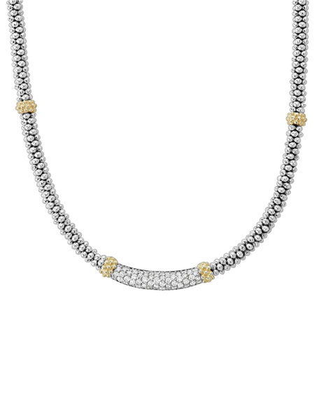 Image 1 of 4: Lagos Diamond Lux Diamond-Station Necklace