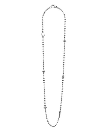 Image 2 of 4: Lagos Caviar Icon Fluted Station Necklace