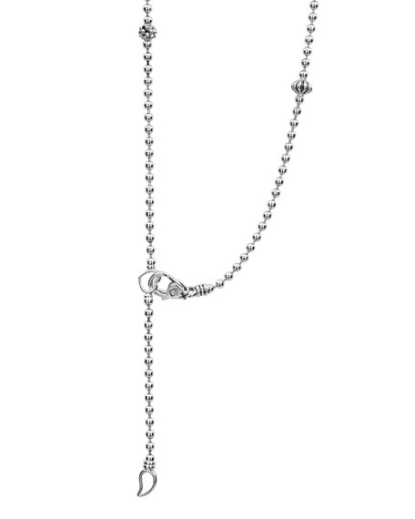 Image 3 of 4: Lagos Caviar Icon Fluted Station Necklace