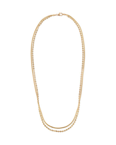 Lana 14k Gold 2-Strand Necklace