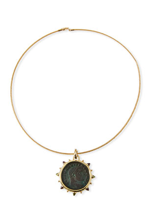 Dubini Roman Bronze Coin Choker in 18k Gold