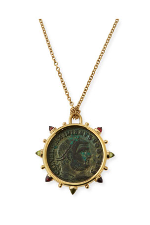 Dubini 18k Roman Bronze Medallion Necklace