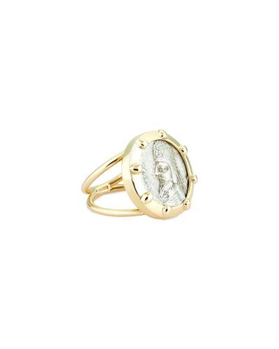 18k Darius Coin Ring  Size 6
