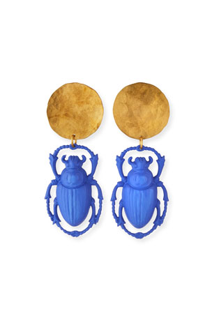 We Dream in Colour Khepri Beetle Earrings