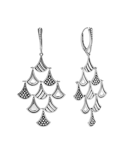 Signature Caviar Pagoda Triangle Chandelier Earrings