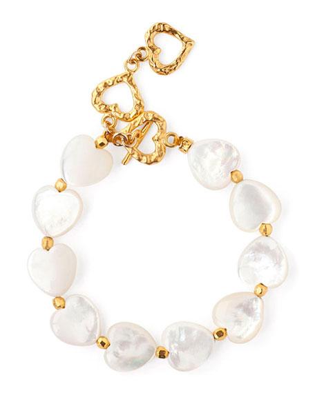 Chan Luu Adjustable Mother-of-Pearl Heart Bracelet