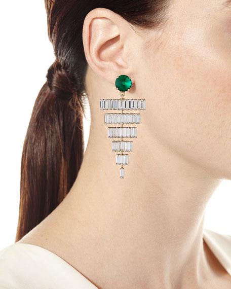 Rebekah Price Esmeredla Drop Earrings, Emerald
