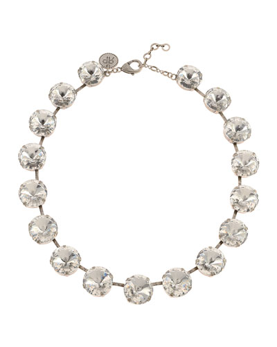 Gloria Crystal Necklace  Clear