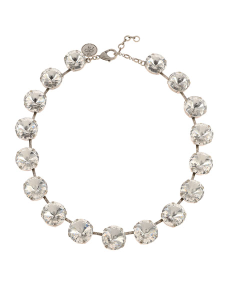 Rebekah Price Gloria Crystal Necklace, Clear