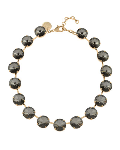 Gloria Crystal Necklace  Silver