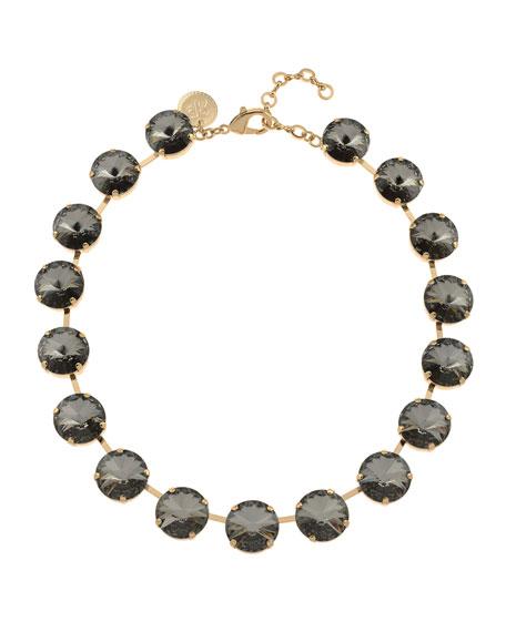 Rebekah Price Gloria Crystal Necklace, Silver