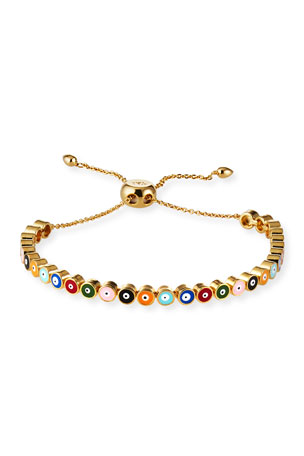 Tai Adjustable Evil Eye Bracelet, Multi