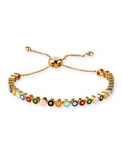 Adjustable Evil Eye Bracelet  Multi