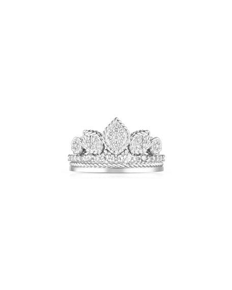 Roberto Coin x Disney Cinderella Diamond Tiara Ring, Size 6.5
