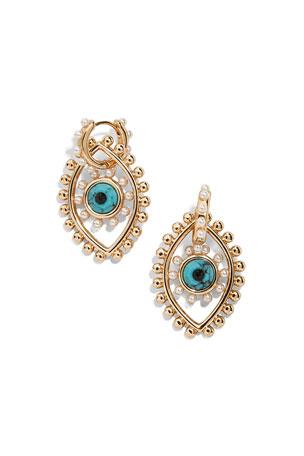 BaubleBar Panon Evil Eye Huggie Earrings