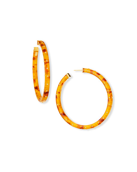 Image 1 of 2: Gas Bijoux Helious Hoop Earrings