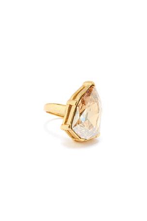 Oscar de la Renta Gallery-Set Crystal Ring